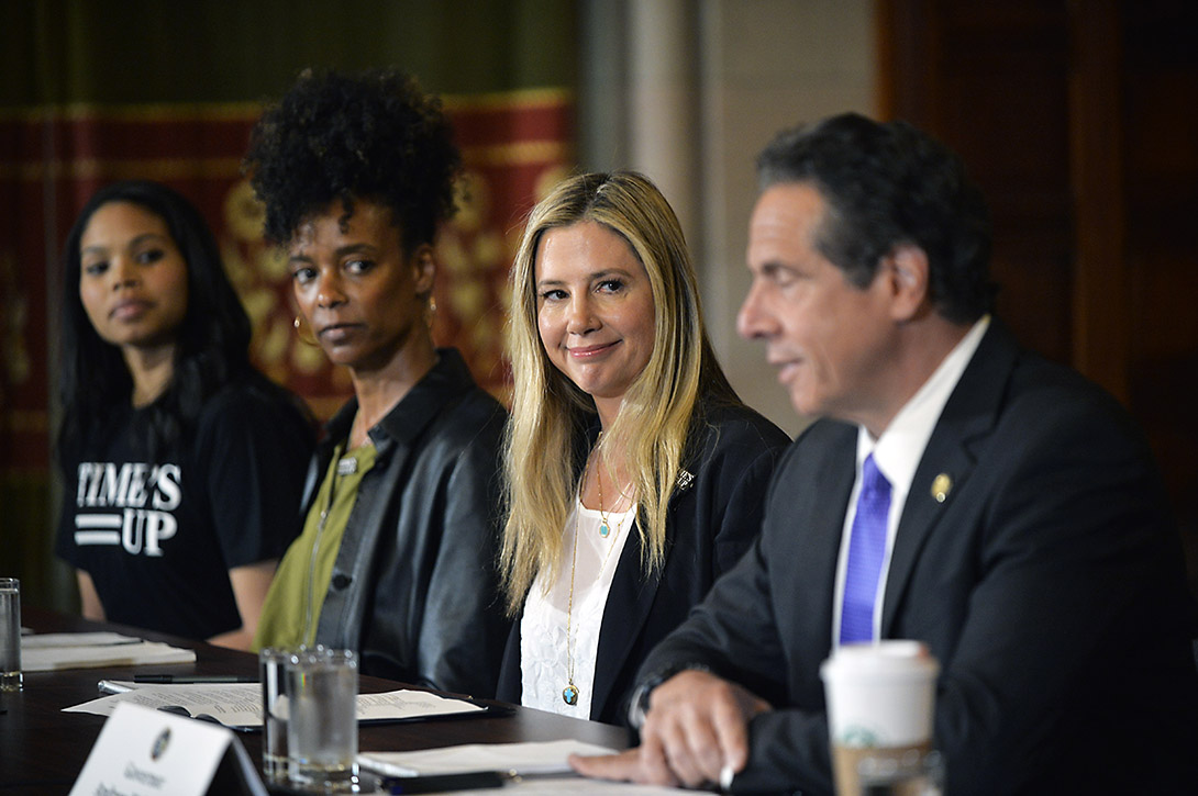 TIME'S UP leaders meet with New York Governor Andrew Cuomo in Albany